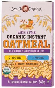 brads organic instant oatmeal