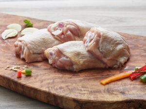 b&e organic chicken thighs