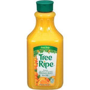tree ripe orange juice