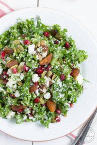 spinach & feta chopped salad