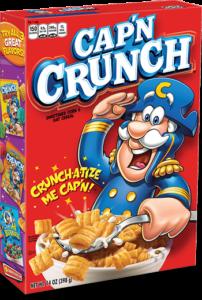 quaker cap'n crunch cereal