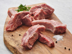 sliced pork spare ribs