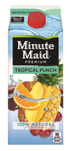minute maid punches/ades